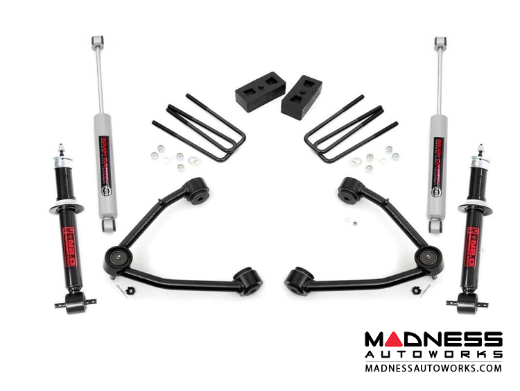 "Chevy Silverado 1500 2WD Suspension Lift Kit w/ N2.0 Shocks & Struts - 3.5"" Lift"